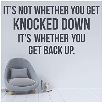 Knocked Down Get Back Up Inspirational Sports Quotes Wall Sticker