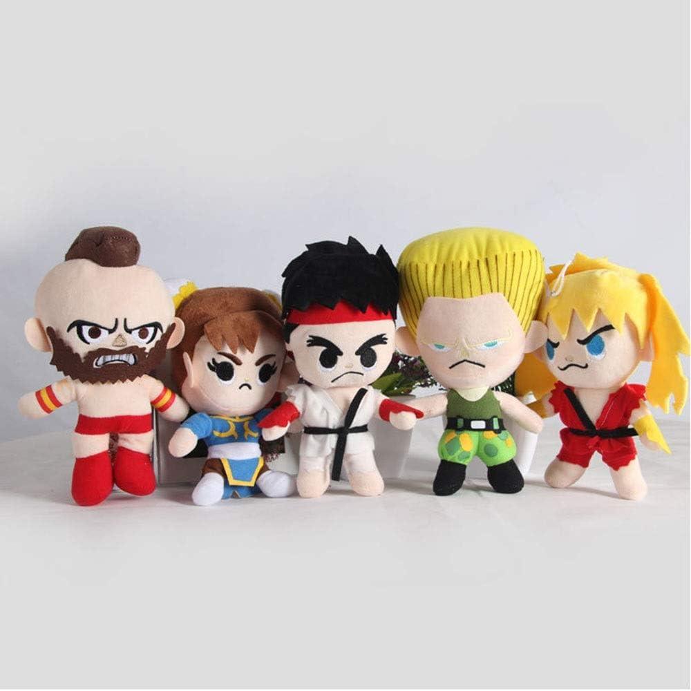HHtoy 5 Piezas de Felpa Juguete Figuras de Street Fighter ...
