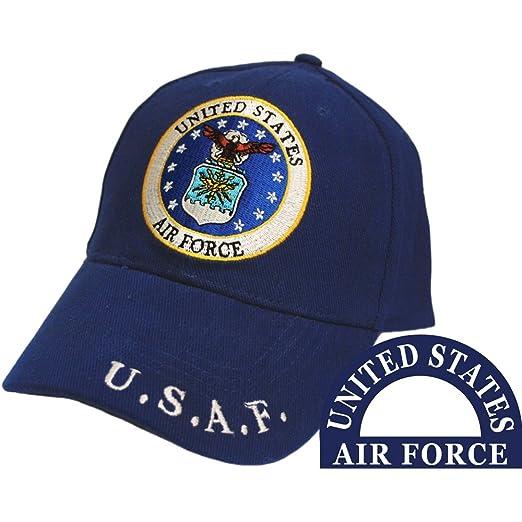 Amazon.com  United States Air Force Logo Blue Hat Cap USAF  Clothing 4f25ba733ace