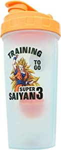 Dragon Ball Z Super Saiyan Goku Gym Shaker Bottle 20-ounce BPA-Free Plastic Blender Bottle With Whisk Ball - Protein Shake, Meal Replacement, Smoothie Mixer - Gym Workout Accessory - Ideal DBZ Gifts