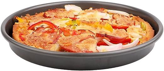 Bandeja de Pizza Bandeja Redonda Horno Negro Hogar Herramientas ...