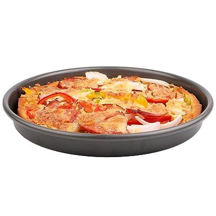 Bandeja de Pizza Bandeja Redonda Horno Negro Hogar Herramientas para Hornear Molde para Pizza Duramadre Bandeja