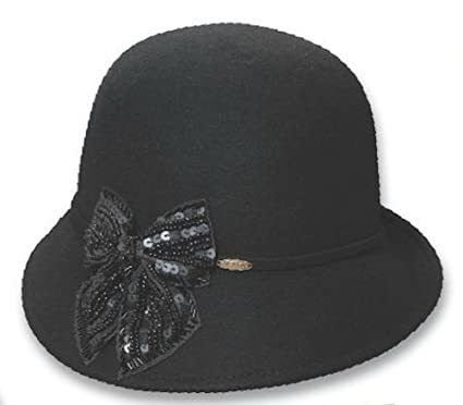 f6f20bdb Image Unavailable. Image not available for. Color: Dorfman Pacific - Scala  - Cloche Wool Felt Hat ...