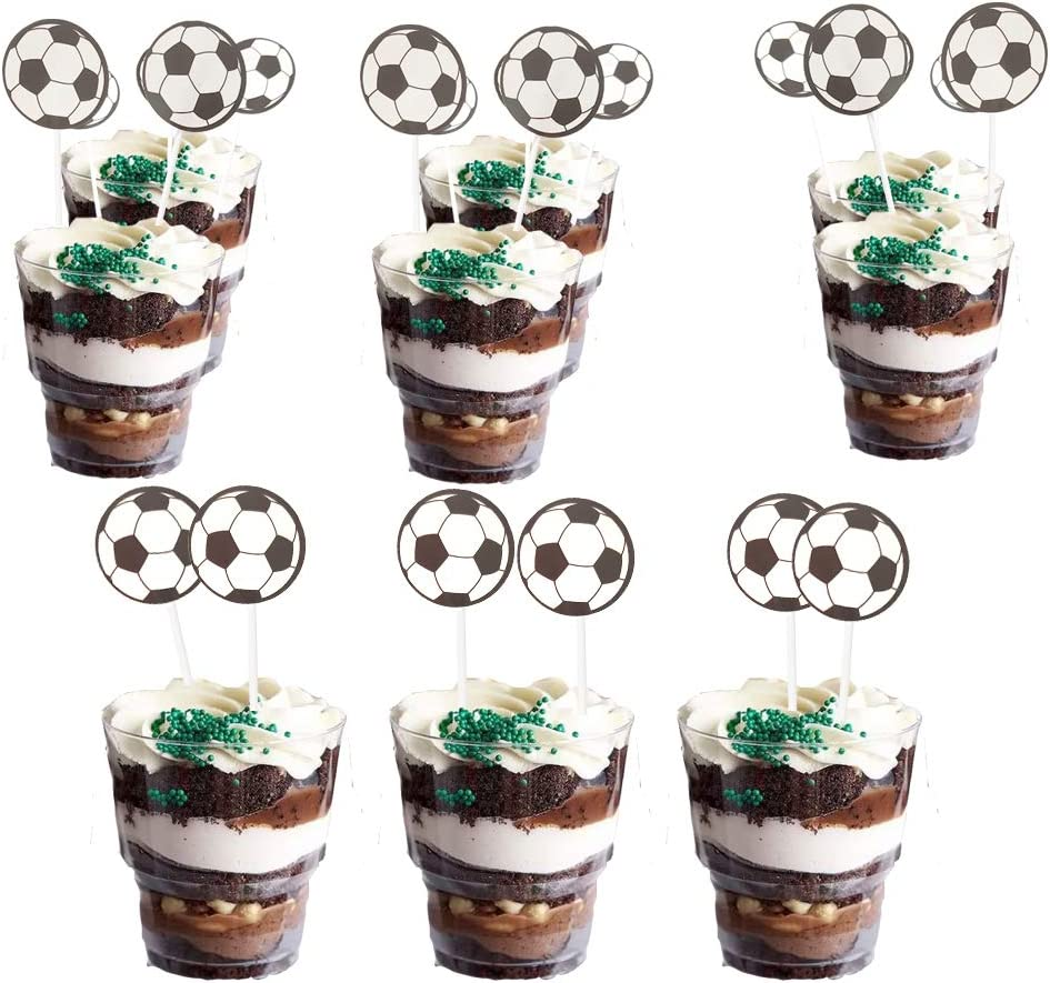 Sports Soccer Balls Cupcake Toppers Sport theme Game Day Youth and Adult Soccer Balls Party Decorations Foosball Table Balls Cake Decorations for Kids//Toddler Adults Girls Boys Indoor and Outdoor Play World Cup Party Decorations