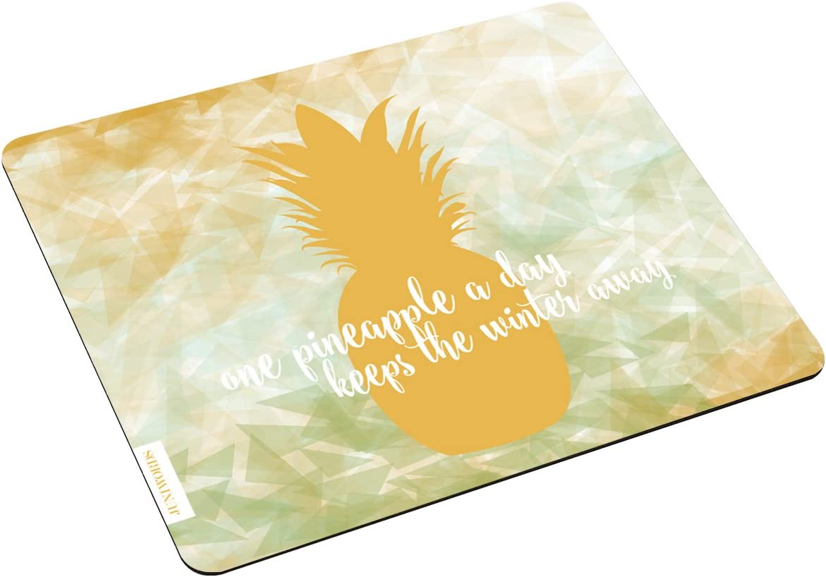 Juniwords Mousepad Mauspad Mit Motiv One Pineapple A Day Low Poly Ideales Geschenk Zum Geburtstag Weihnachten U V M Bürobedarf Schreibwaren