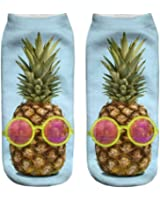 3D Print Socks Pineapple Fruit Womens Socks Casual Socks Unisex Low Cut Ankle