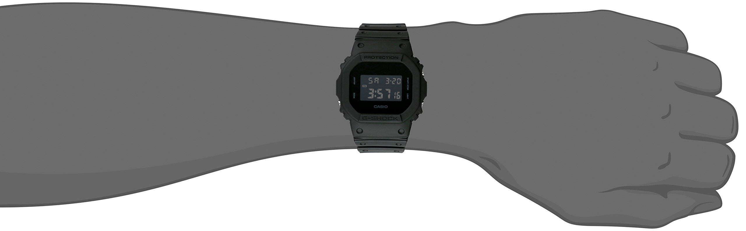Casio Men's G Shock Quartz Watch with Resin Strap, Black, 30 (Model: DW-5600BB-1CR) by Casio (Image #2)