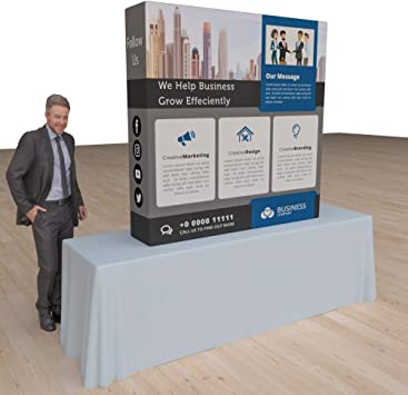 Vispronet Trade Show Display Pop Up Booth Curved 5ft x 5ft