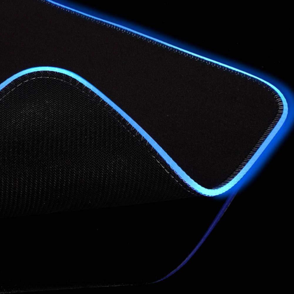 resplandeciente y Brillante Led extendida Blue-Yan Alfombrilla de r/áton para Juegos Blandos RGB Amplia Base de Goma Antideslizante Teclado de computadora Alfombrilla