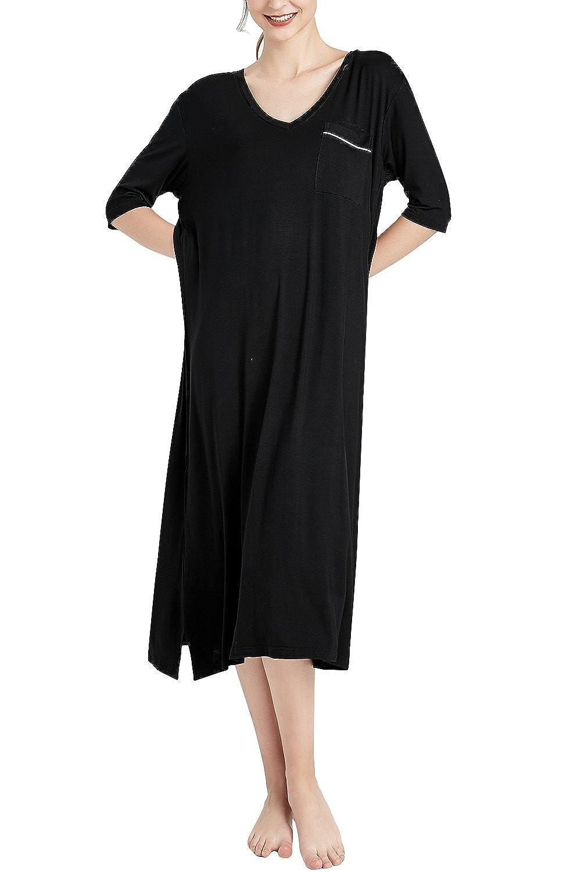 Modal Cotone Vestito da Spiaggia Senza Maniche da Notte Dolamen Camicia da Notte Donna Lunga Knit Morbido Floreale Stampa Pigiama da Notte Taglia Grossa XS-3XL