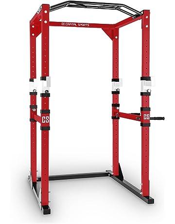 Capital Sports Tremendour Jaula de musculación (acero, soportes seguridad, 4 ganchos en J