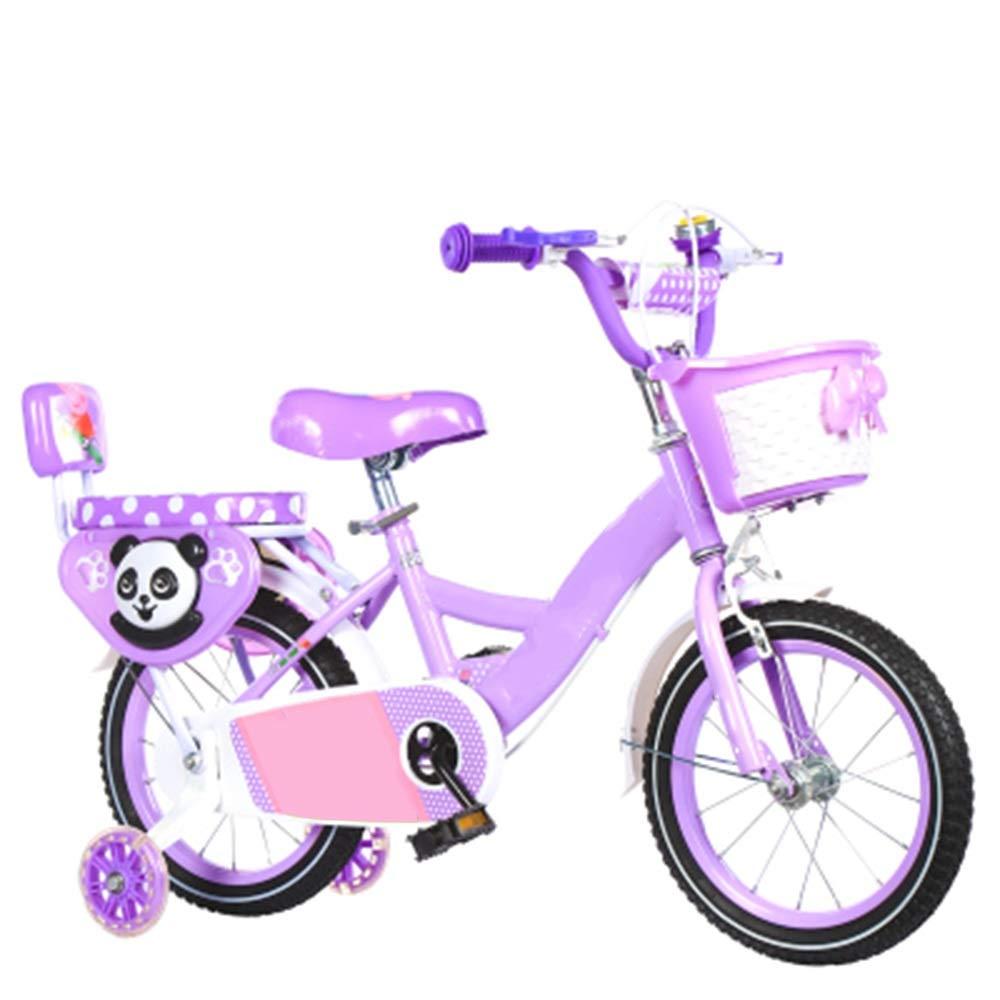 【送料無料キャンペーン?】 Axdwfd 子ども用自転車 Axdwfd Purple 子供用自転車高炭素鋼子供用自転車12/14 B07PT6C2BP/16/18インチトレーニングホイール付き男の子と女の子のサイクリング、25歳の子供に最適 16in Purple B07PT6C2BP, ラフォルム:89089712 --- senas.4x4.lt
