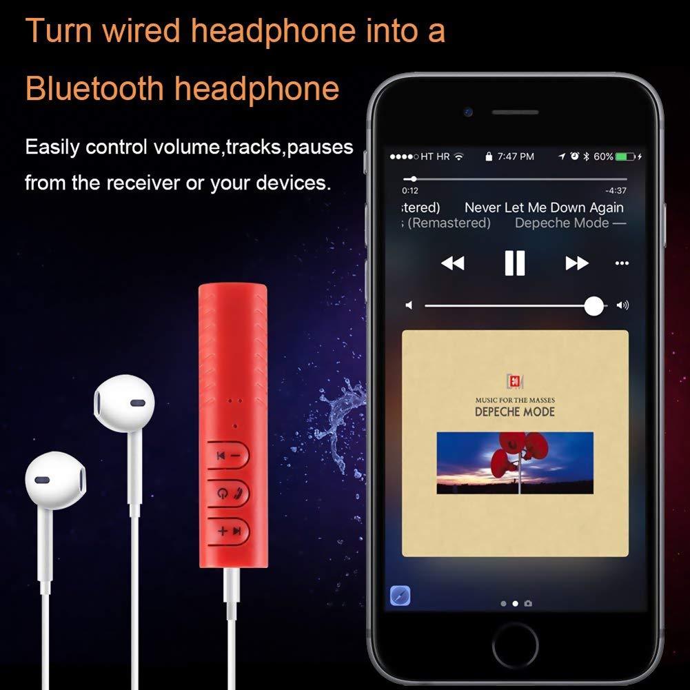 R/écepteur Bluetooth Voiture Mini Adapteur Audio sans Fil avec Sortie St/ér/éo Adapateur Audio Musique Mallalah 3.5mm Jack pour Haut-Parleur Voiture Aux Mains Libres Kit