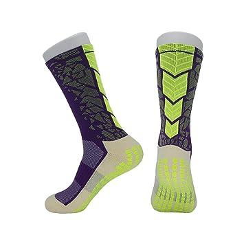 Huyizhi Calcetines de Hombre Calcetines de fútbol para Hombres Calcetines de Baloncesto Calcetines Antideslizantes Calcetines Antideslizantes