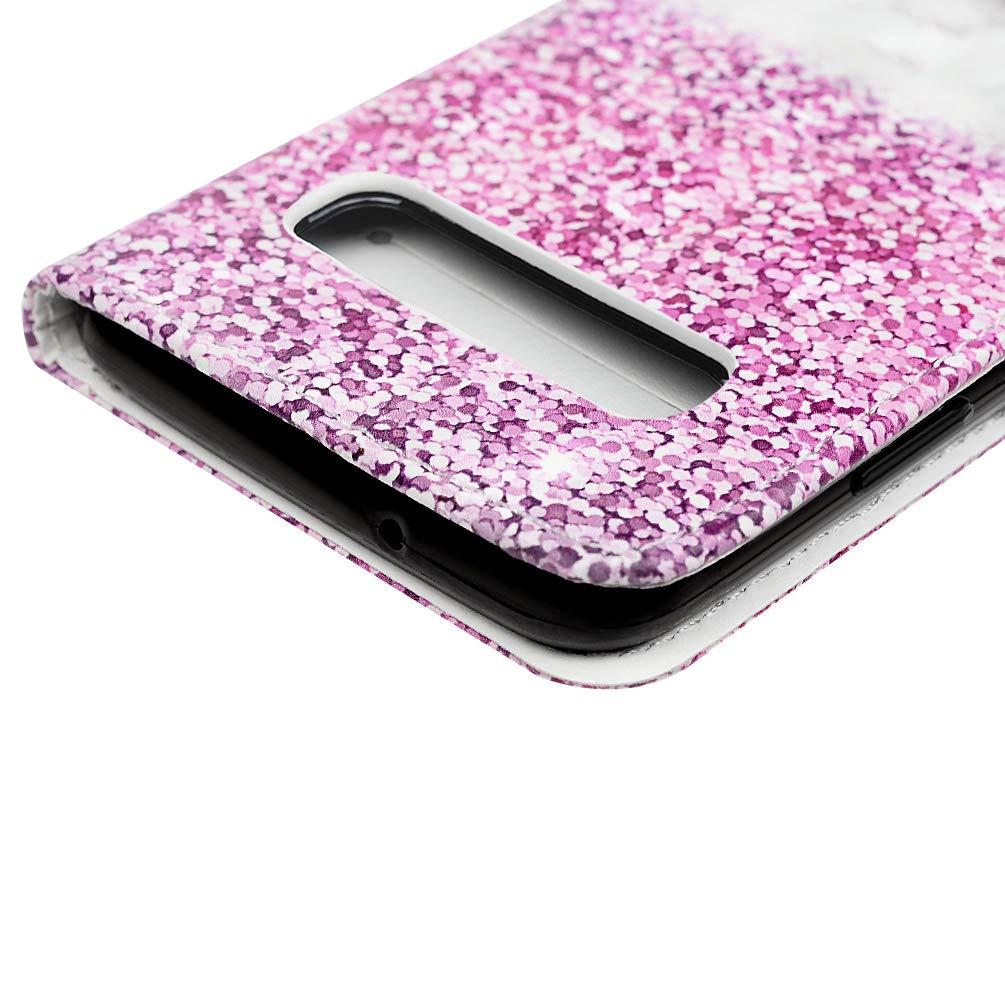 H/ülle f/ür Samsung Galaxy S10 6.1 Zoll 3D-Effekt Gemalt Vorne schnallen Leder Handyh/ülle Klappbares Brieftasche Schutzh/ülle Wallet Case mit Integrierten Kartensteckpl/ätzen /Überlappendes Dreieck