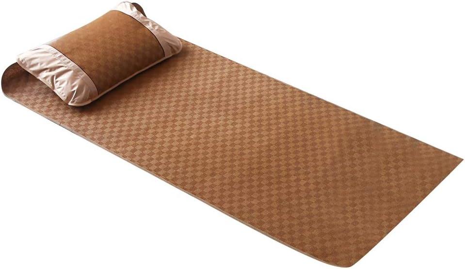Yosooo Summer Mattress, Home Quick Cooling Textile Rattan Mat Grid Fitted Bamboo Fiber Bed Sheet Set Summer Bed Cover(04)