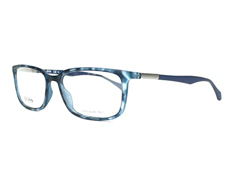 764360fa19a0 Image Unavailable. Image not available for. Color: Optical frame Hugo Boss  Acetate Blue - Havana ...