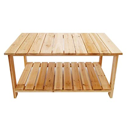 Amazon Com Transer Coffee Table Rustic Natural Fir Wood Cocktail