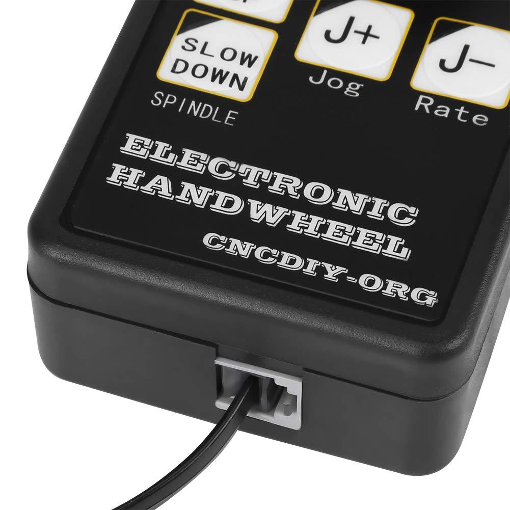 Keenso CNC Handrad Impulsgenerator CNC Graviermaschine Manuelle Steuerung USB Stecker 6 Achs Steuerung f/ür Mach3 CNC Kleine Graviermaschine Zubeh/ör