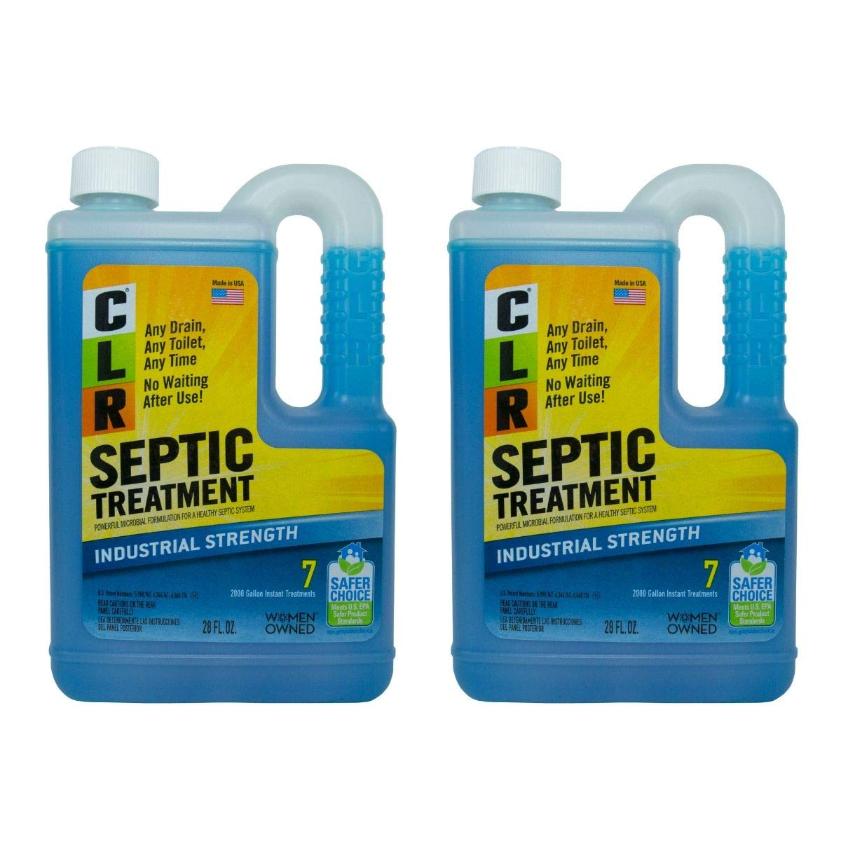 CLR Septic System Treatment Environmentally-Friendly Fast-Acting 28 Oz (Pack of 2) by CLR