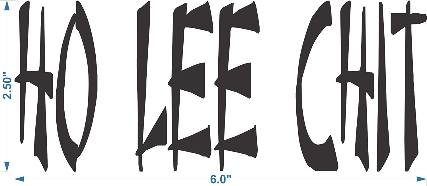 Apollos Products HO LEE CHIT Chinese Style Lettering for Your Car in White Waterproof Lettering Vinyl Decal 6 x 2.5 Inches