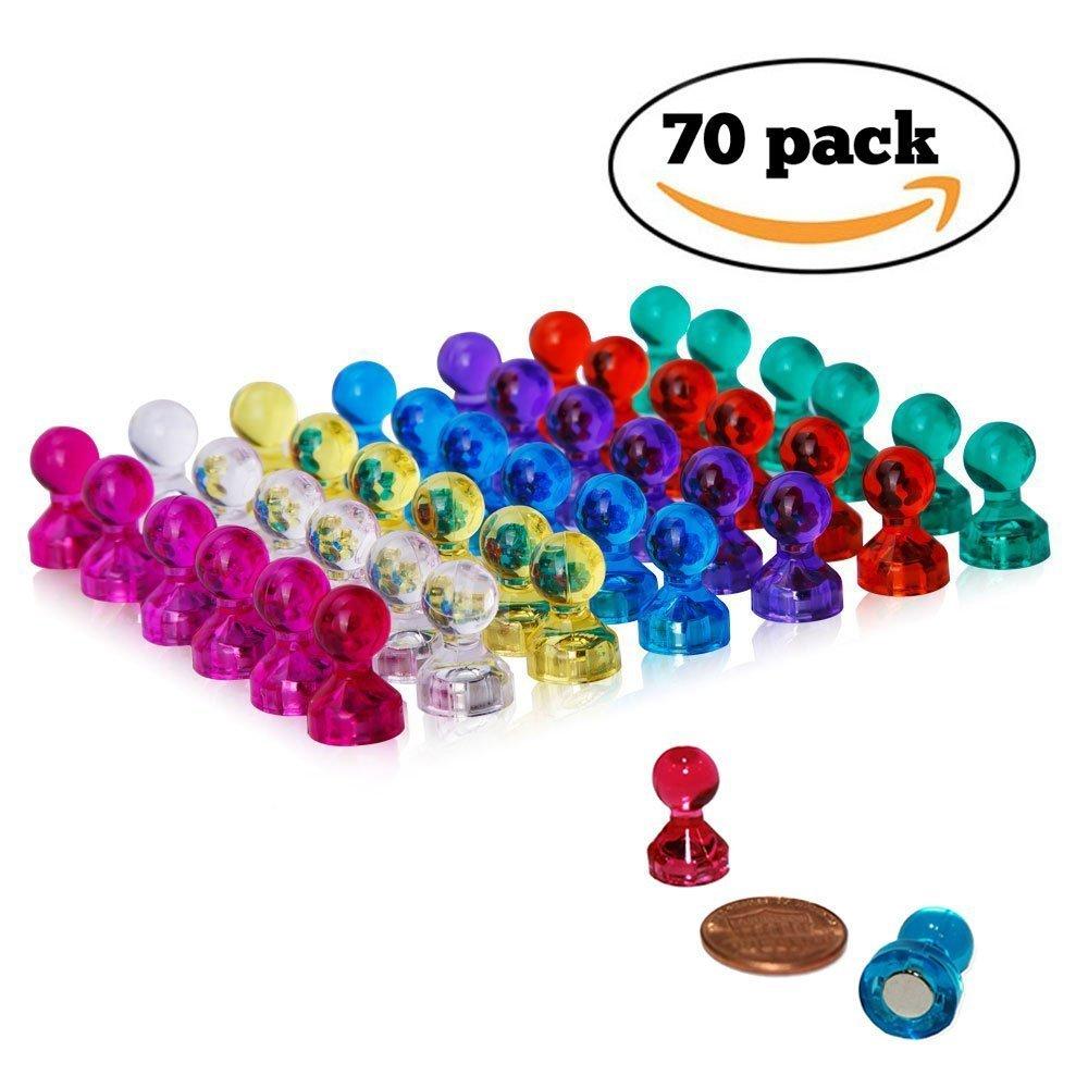 Romote 70Pcs magnetica Perni assortiti colori forti magneti per frigorifero, lavagne, Mappa Calendario casa