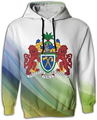 JimHappy Men's Coat of Arms of The Gambia Long Sleeve