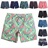 MaaMgic Mens Quick Dry Printed Short Swim Trunks with Mesh Lining Swimwear Bathing Suits