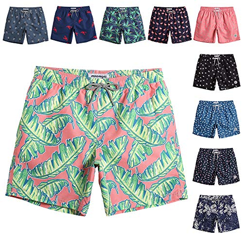 - MaaMgic Mens Quick Dry Printed Short Swim Trunks with Mesh Lining Swimwear Bathing Suits
