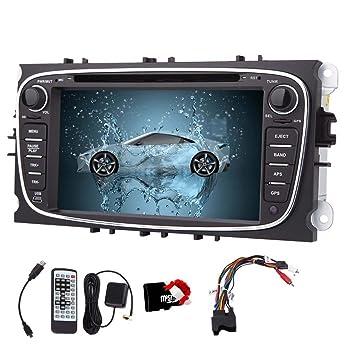 7-pulgadas 2 Din pantalla t¨¢ctil en el tablero de coches reproductor de DVD para Ford Mondeo con BT, navegaci¨®n GPS, IPOD, est¨¦reo de autom¨®vil ...