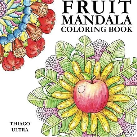 Fruit Mandala Coloring Book for Adults