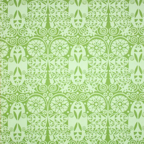 Amy Butler Soul Blossoms Temple Doors Basil Fabric Yardage