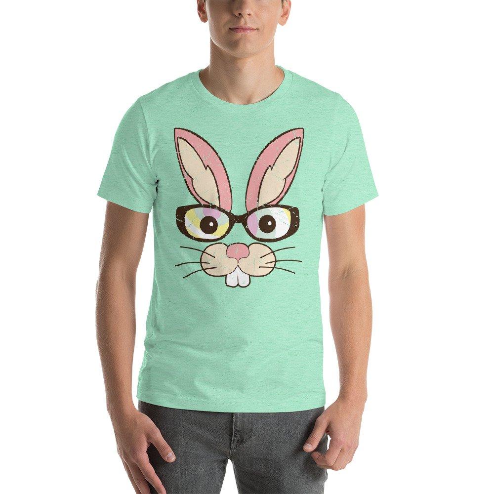 Tronic Worx Cute Easter Bunny Rabbit Face Short-Sleeve Unisex T-Shirt