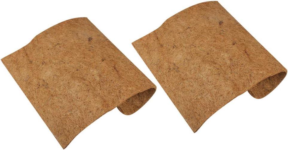 POPETPOP 2pcs Estera de Coco para Mascotas Tortuga Lagarto colchón Aislamiento hidratante para Control de babosas ecológico (marrón)