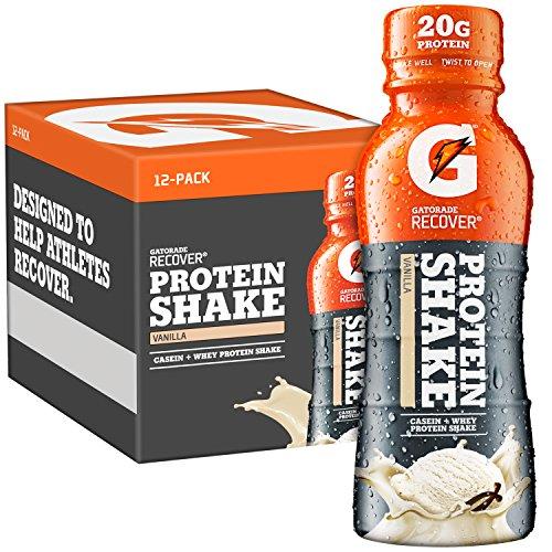 Gatorade Recover Protein Shake, Vanilla, 11.16 Ounce, 12 Count (Shake Power)