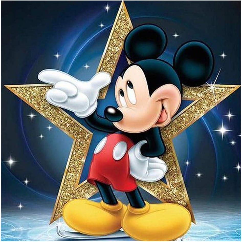 Full Drill 5D Diamond Painting Cartoon  Mickey Mouse DIY Diamond Embroidery Kit Cross Stitch Mosaic Rhinestone Decor Mural