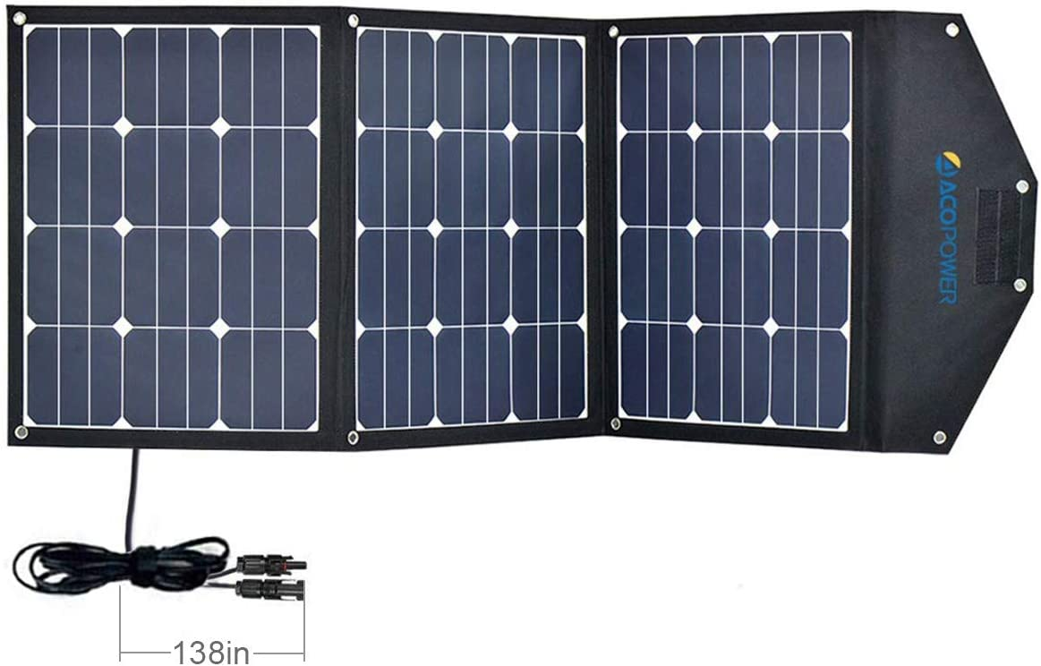 ACOPOWER 120W Portable Solar Panel 3x40W Foldable Suitcase
