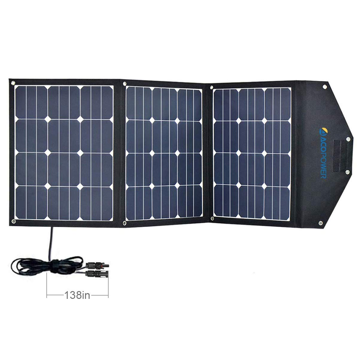 ACOPOWER 120W Portable Solar Panel 3x40W Foldable Suitcase ... by ACOPOWER