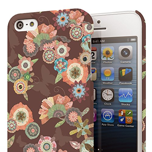 Koveru Back Cover Case for Apple iPhone 5S - Flower Bouquets Brown