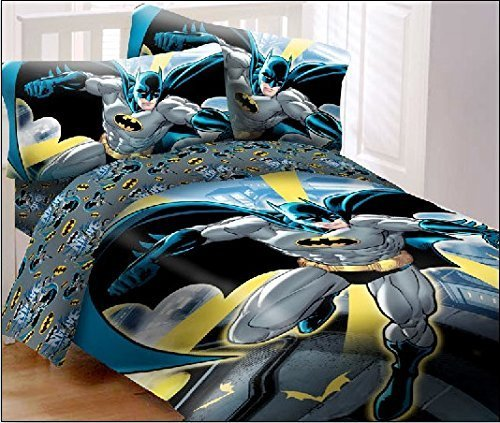 (JP Import LLC Batman in City 4pc Full Bed Set Standard)