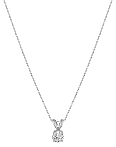 Amazon igi certified 14k white gold lab created diamond pendant igi certified 14k white gold lab created diamond pendant necklace 12 ct mozeypictures Image collections