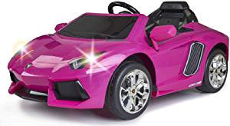 FEBER - Lamborghini Aventador Coche eléctrico Deportivo para niñas a Partir de 3 años, 6V, Color Rosa (Famosa 800012394)