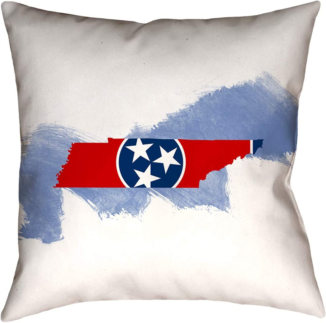 Artverse Katelyn Smith 20 X 20 Poly Twill Double Sided Print With Concealed Zipper Insert Tennessee Love Watercolor Pillow