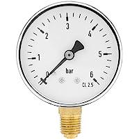 Mini Manómetro para combustible, aire, aceite y agua,Medidor de presión en miniatuna de alta precisiónde rosca NPT de 1…