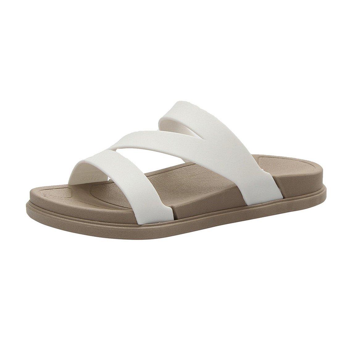 2018 New Ladies Summer Beach Bath Slippers Casual Wedge Sandals Women Shoes B07BNLDFGJ 5 B(M) US|White