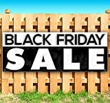 Black Friday Sale 13 oz Heavy Duty Vinyl Banner Sign with Metal Grommets, New, Store, Advertising, Flag, (Many Sizes Available)