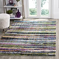 Safavieh Fiesta Shag Collection FSG367M Abstract Art Multicolored Area Rug (4 x 6)