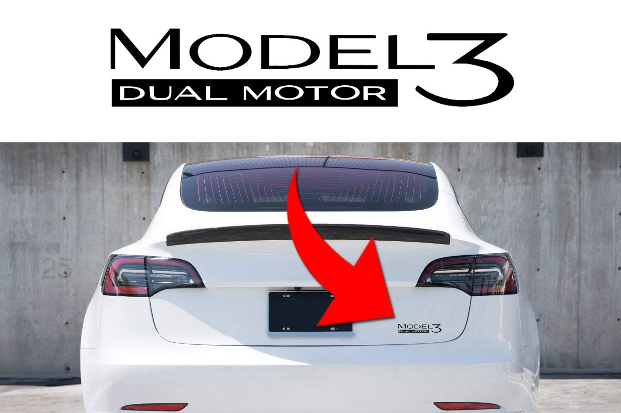 Many colors or Reflective 6.5 Dual Motors Decal sticker compatible high performance engine on Tesla Model 3 2