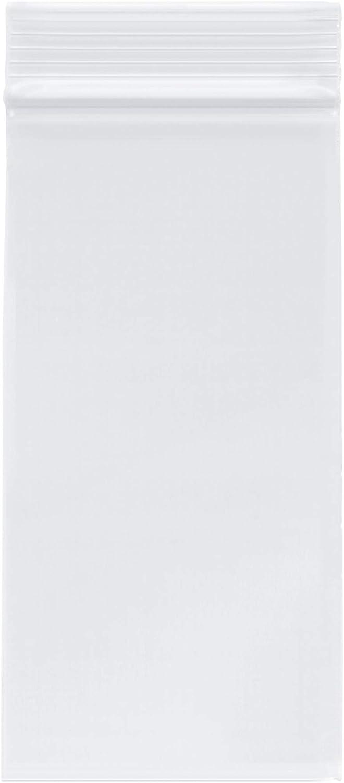 Plymor Zipper Reclosable Plastic Bags, 2 Mil, 3