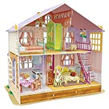 CubicFun Miniature Dollhouse Kits with Furniture,Kids House 3D Puzzle Toys,Sara's Home P678h